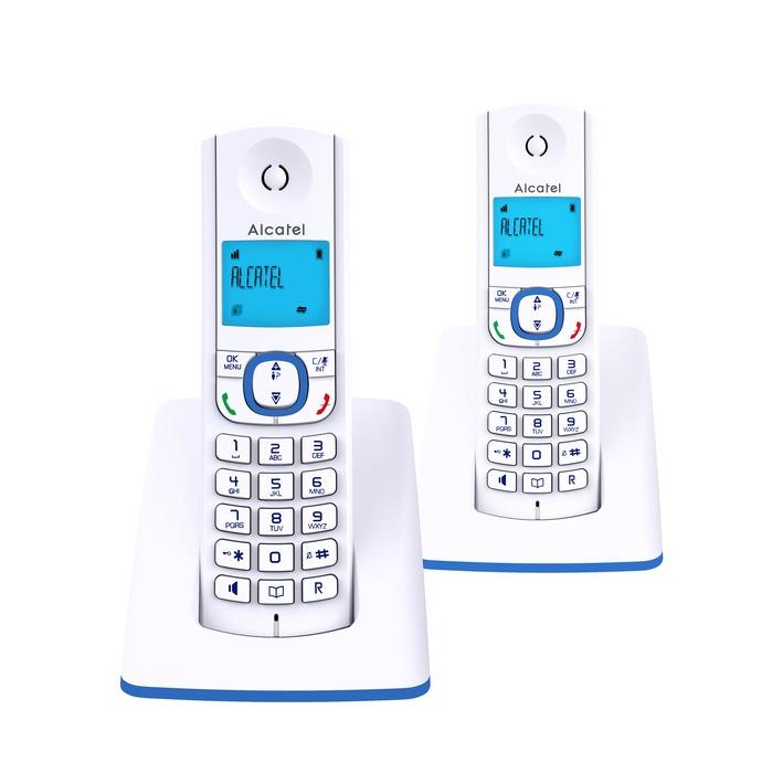 dect f530 voice duo blue ascendeo grossiste t l phones fixes. Black Bedroom Furniture Sets. Home Design Ideas
