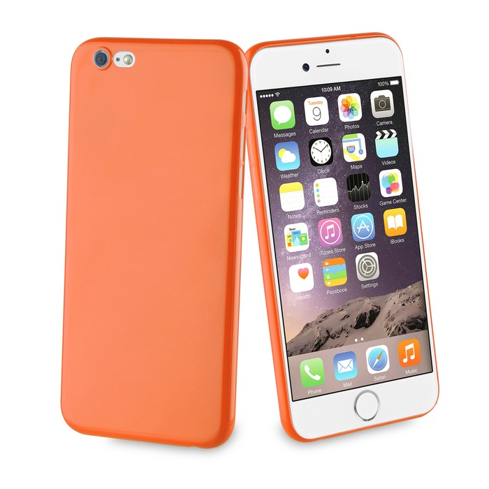 coque apple orange iphone 8