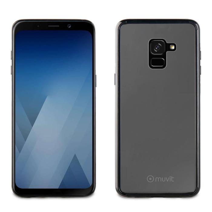 Coque + Bords noir Galaxy A8 2018 Io1q7x