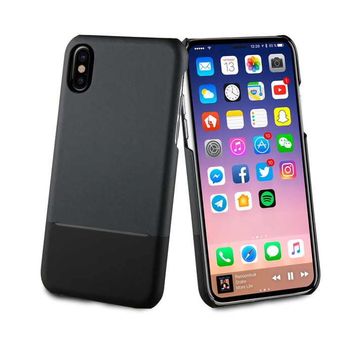 coque original apple iphone x noir
