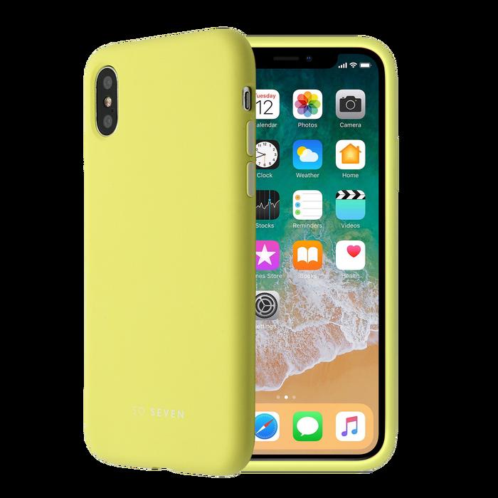 coque iphone xs apple jaune