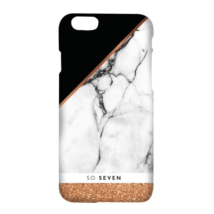 so seven coque marble pink gold pour apple iphone 77s plus 46485