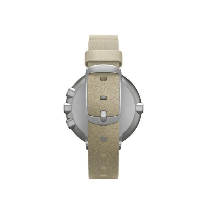 Argentbeige 14mm Round Pebble Sur Connectée Time Montre wn0N8mv