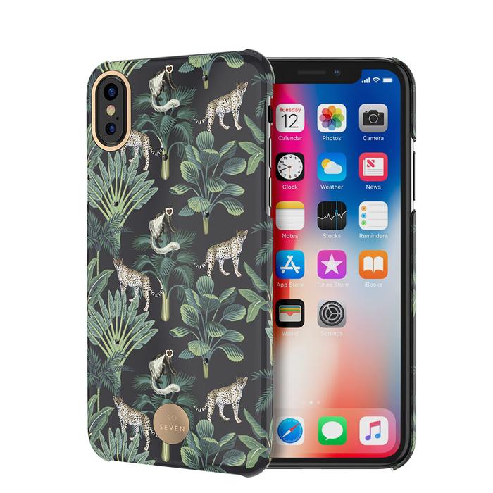 so seven coque premium crystal jaipur leopard noir iphone xxs 53162