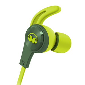 ISPORT ACHIEVE ECOUTEURS INTRA FILAIRE MIC VERT