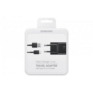 SAMSUNG CHARGEUR SECTEUR RAPIDE 15W + CABLE USB TYPE C NOIR