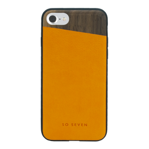 COQUE DANDY BOIS + PU ORANGE: APPLE IPHONE 6/6S/7/8