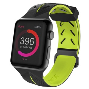 ACTION BAND FOR APPLE WATCH 42/44MM - BLACK/YELLOW
