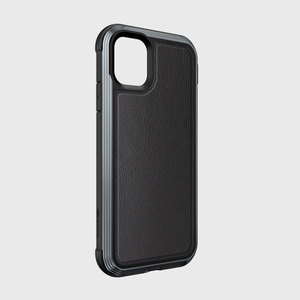 DEFENSE LUX FOR IPHONE 11 - BLACK LEATHER