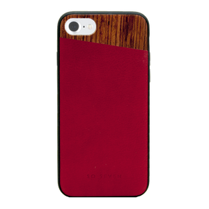COQUE DANDY BOIS + PU BORDEAUX: APPLE IPHONE 7/8
