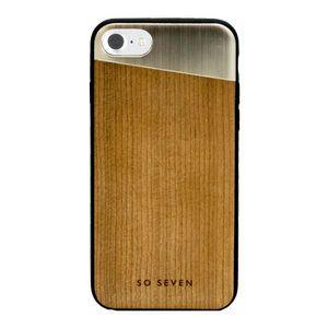 COQUE SULFUROUS + BOIS OR: APPLE IPHONE SE/8/7