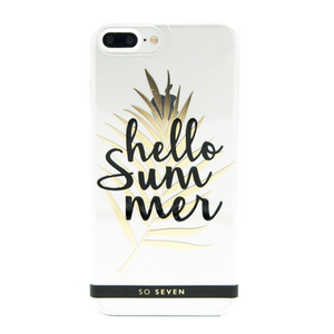 COQUE CANNES HELLO TRANSPARENT: APPLE IPHONE 6+/6S+/7+/8+