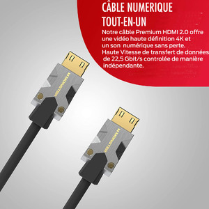 CABLE HDMI M1000 UHD 4K HDR 22.5GBPS 3M