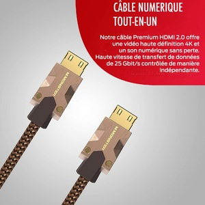 CABLE HDMI M2000 UHD 4K HDR10+ 25GBPS 3M