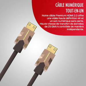 CABLE HDMI M2000 UHD 4K HDR10+ 25GBPS 5M