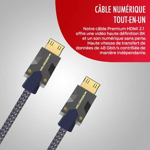 CABLE HDMI M3000 UHD 8K DOLBY VISION HDR 48GBPS 1.5M