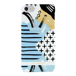 COQUE BROOKLYN TRAITS BLEU: APPLE IPHONE 6/6S/7/8
