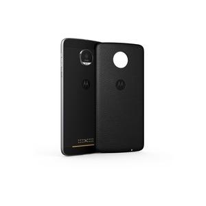 MODS cache- batterie style cuir noirpour Moto Z/Z2/Z3 Play V2