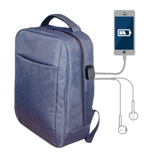 SAC A DOS CONNECTE 15'' SANS POWERBANK BLEU