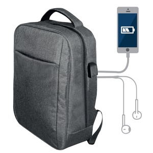 SAC A DOS CONNECTE 15'' SANS POWERBANK GRIS