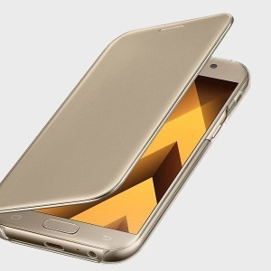 ETUI CLEAR VIEW COVER GOLD POUR SAMSUNG GALAXY A5 2017