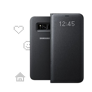 ETUI LED VIEW COVER NOIR POUR GALAXY S8 PLUS