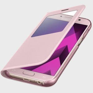 S VIEW COVER STAND ROSE POUDRE POUR SAMSUNG GALAXY A5 2017