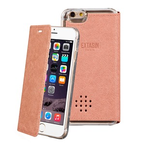 ETUI FOLIO PARFUMABLE ROSE POUR IPHONE 5/5S/SE