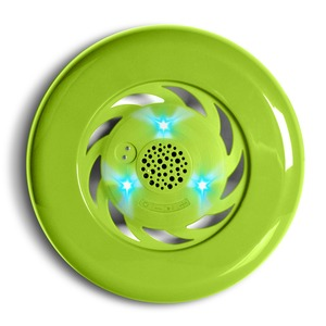 FRISBEE SPEAKER LUMINEUX GREEN