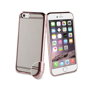 COQUE SOUPLE OR ROSE ET DIAMANTS: APPLE IPHONE 6/6S/7/8