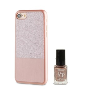 COQUE PAILLETTE OR ROSE: APPLE IPHONE 6/6S/7/8