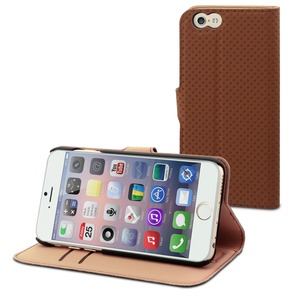 ETUI WALLET FOLIO MARRON 3 RANGTS CARTE STAND APPLE IPHONE 6/6S