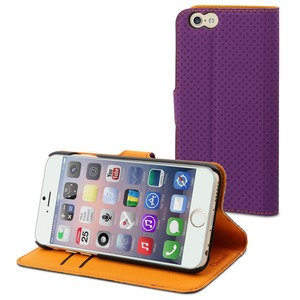ETUI WALLET FOLIO VIOLET 2 RANGEMENTS CARTE STAND APPLE IPHONE 6/6S