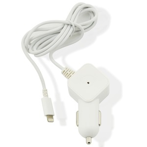 CHARGEUR VOITURE 1A LIGHTNING 1.2M BLANC