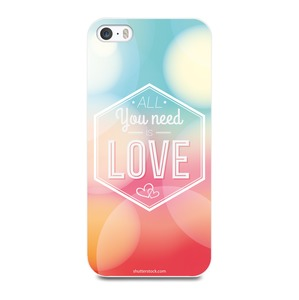 COQUE BLANCHE ALL YOU NEED POUR APPLE IPHONE 5 5S SE