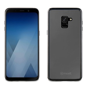 COQUE CRYSTAL BUMP NOIR: SAMSUNG GALAXY A8 2018