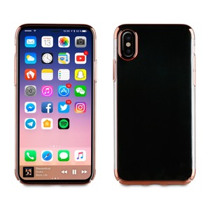 COQUE CRYSTAL EDITION OR ROSE: APPLE IPHONE X/XS