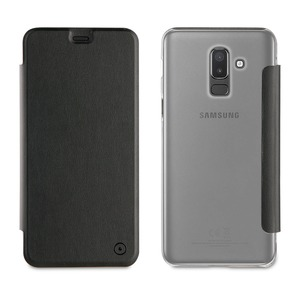 FOLIO CASE NOIR: SAMSUNG GALAXY J8 2018