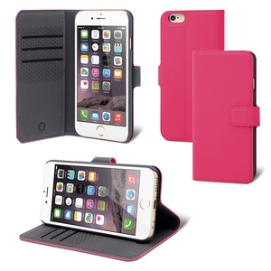 FOLIO STAND WALLET 3 CARTES ROSE: APPLE IPHONE SE/8/7/6S/6