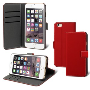 FOLIO STAND WALLET 3 CARTES ROUGE: APPLE IPHONE SE/8/7/6S/6