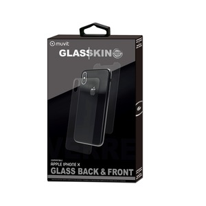 GLASSKIN VERRE TREMPE AVANT/ARRIERE: APPLE IPHONE X/XS