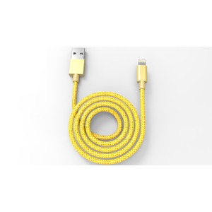 TAB CABLE TRESSE METAL 2.4A USB/LIGHTNING 1M OR