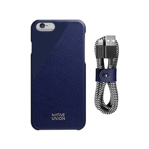 NATIVE UNION CLIC LEATHER IPHONE 6/6S & BELT CABLE BUNDLE-MARINE