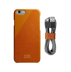 NATIVE UNION CLICLEATHER IPHONE 6/6S & BELT CABLE BUNDLE - GOLD
