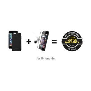 BUNDLE COQUE SYMMETRY NOIR ET ALPHA GLASS APPLE IPHONE 6S