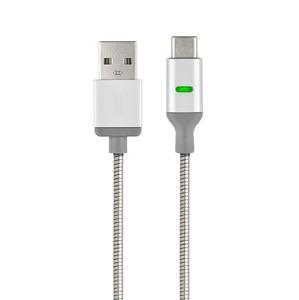 POWERSTEEL CABLE USB TYPE C RENFORCE METALISE 1M