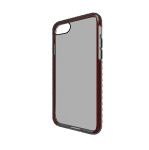 COQUE SHOX GRIS TRANSLUCIDE ET ROUGE APPLE IPHONE 7