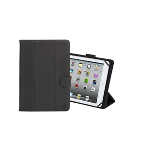 MALPENSA Etui folio universel noir cuir tablettes 10.1