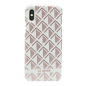 COQUE PARIS TRIANGLE BLANC/ROSEGOLD: APPLE IPHONE X/XS