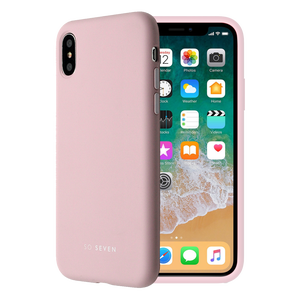 COQUE SMOOTHIE ROSE POUDRE: APPLE IPHONE X/XS